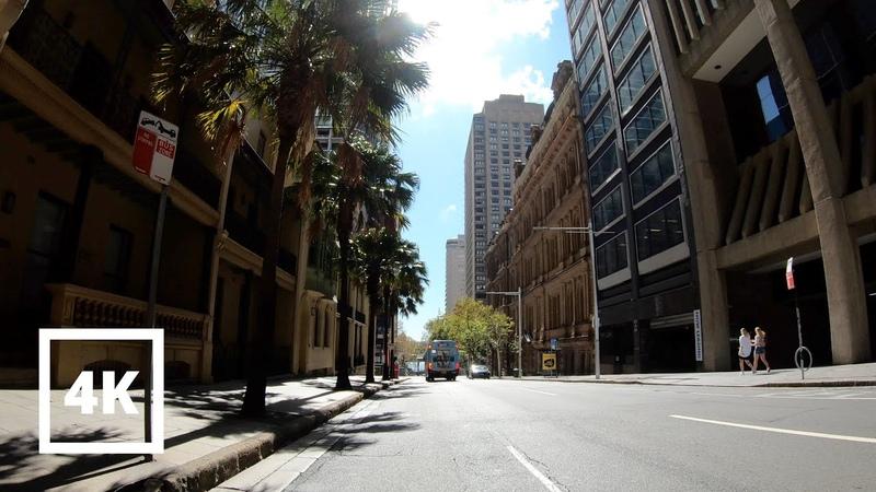 ⁴ᴷ Sydney Bike Tour City Center Haymarket to Pitt Street Mall and Circular Quay Australia 4K