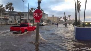Flooding in Ocean Beach 1/6/2016 San Diego