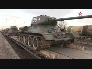 Из Лаоса в Россию прибыли 30 танков Т-34 в в полной боевой готовности