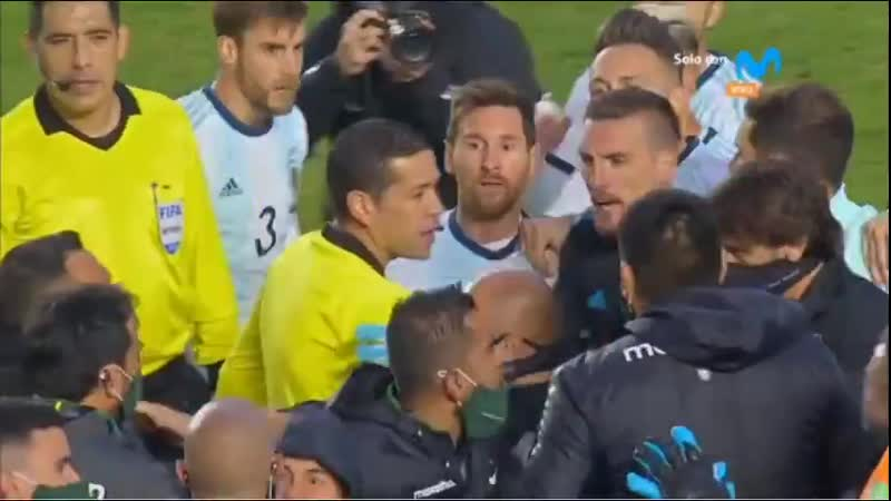 Скандал с участием Месси после матча Боливия Аргентина