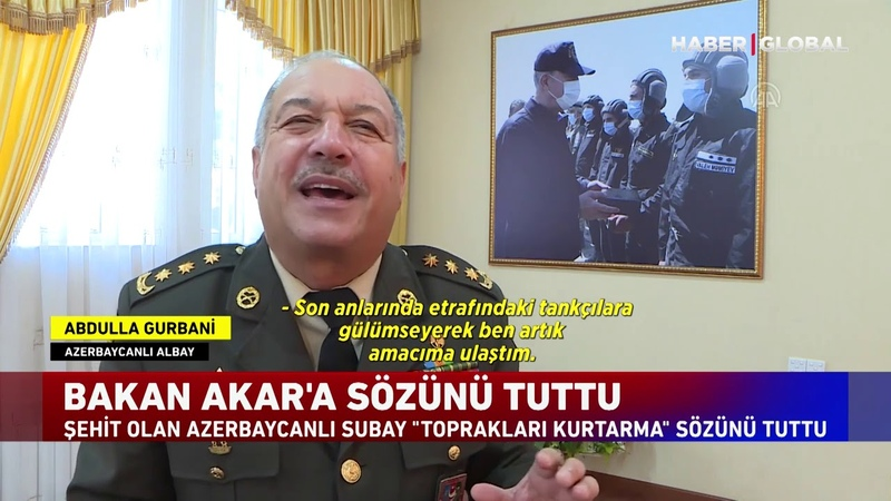Şehit Olan Azerbaycanlı Subay İşgal Altındaki Toprakları kurtarma Sözünü Tuttu