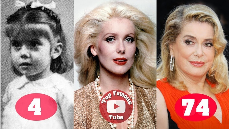 Catherine Deneuve Transformation From 3 To 74 Years Old