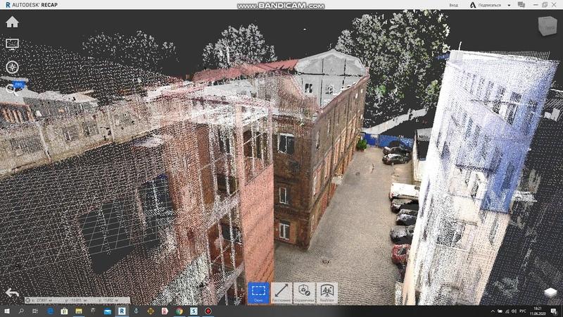 лазерное сканирование здания мануфактуры