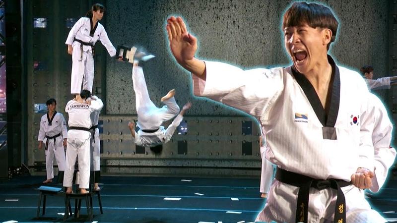 Insane Board Breaking Acrobats Kukkiwon's World's Best Audition