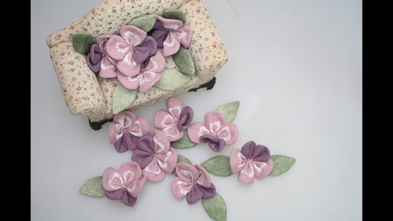 (엠에프)making flower fabric 원단으로 펜지를 만들었어요. 이렇게 사랑스러운 보라색을 보