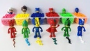 Pj Masks Balls Beads Toys - Learn Colors with Pj Masks Toys and Finger Paint
