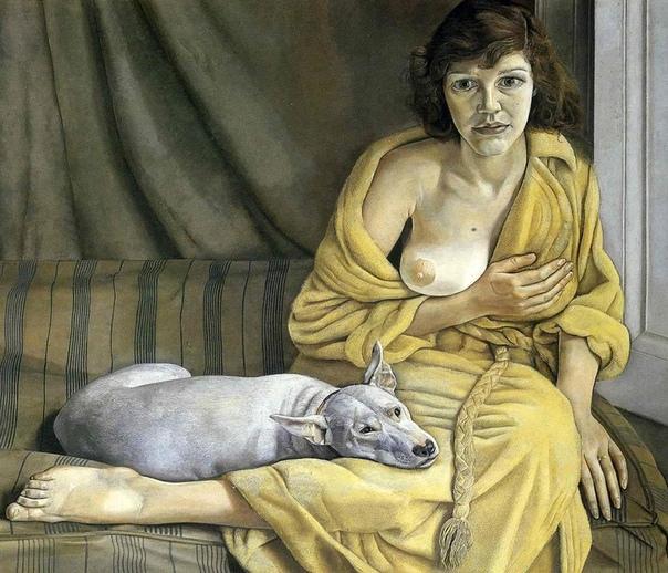 «Девушка с белой собакой», Люсьен Фрейд