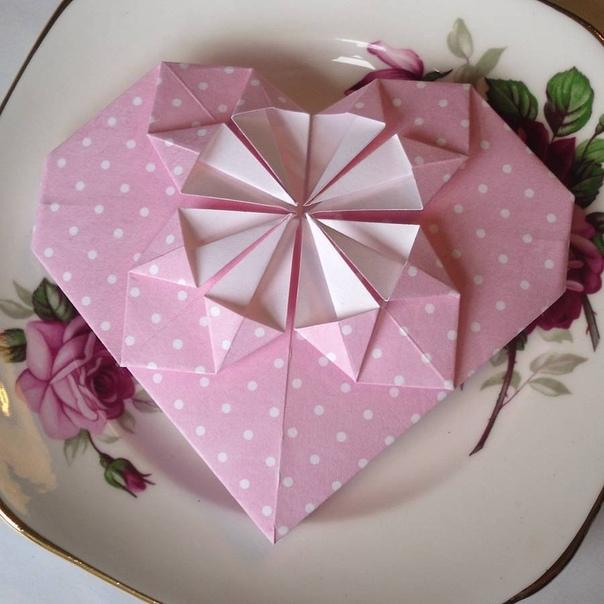 Сердце-оригами своими руками Сохраняй, чтоб не потерять