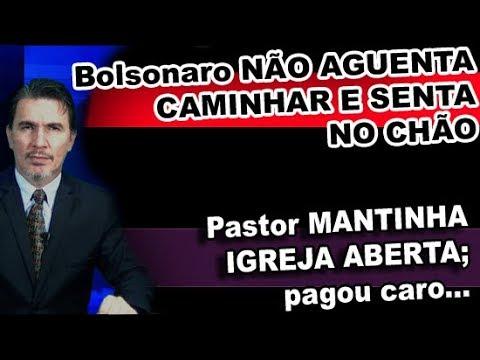 Bolsonaro EM CAMINHADA para e SENTA NO CHÃO! Pastor TEIMOSO pagou caro!