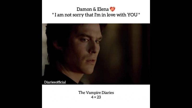 TVD Damon Salvatore and Elena Gilbert 4x23 I am not sorry that I'm in love with you