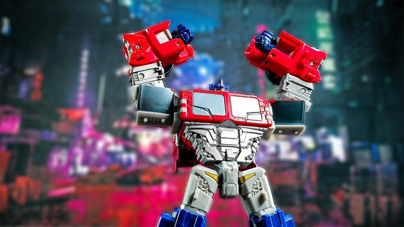 Ten Geration series Optimus Prime stop motion review by Mangmotion Transformers 經典系列擎天柱玩具變形定格動畫