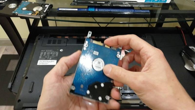 Как заменить жесткий диск на ноутбуке Замена HDD на ноутбуке
