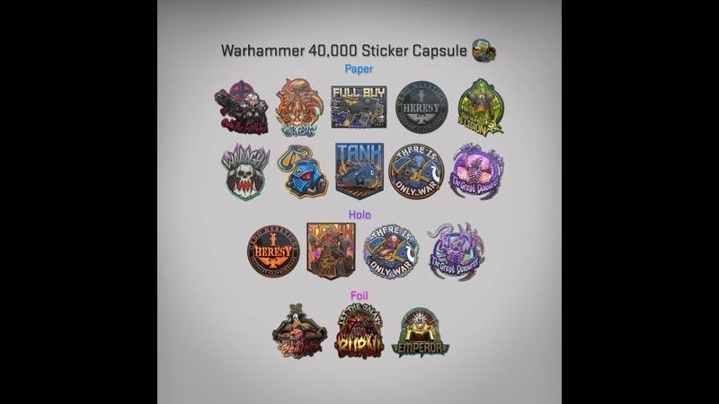 Вышли новые капсулы CSGO Warhammer 40,000
