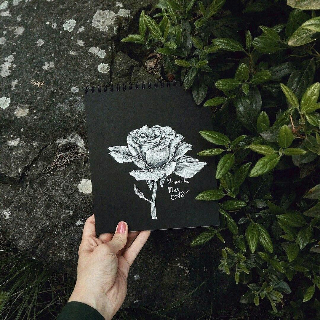 Блокноты с чрными листами для рисования -