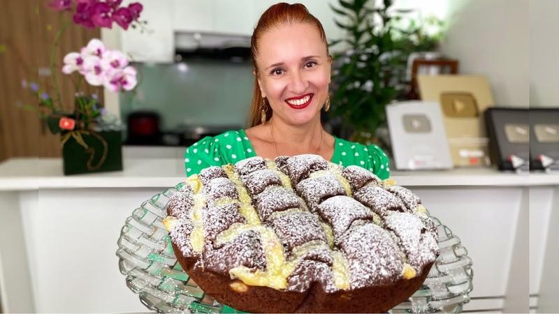 ТАЮЩИЙ ШОКОЛАДНЫЙ ПИРОГ с заварным кремом БЫСТРО и ВКУСНО Люда Изи Кук Custard Cream chocolate pie