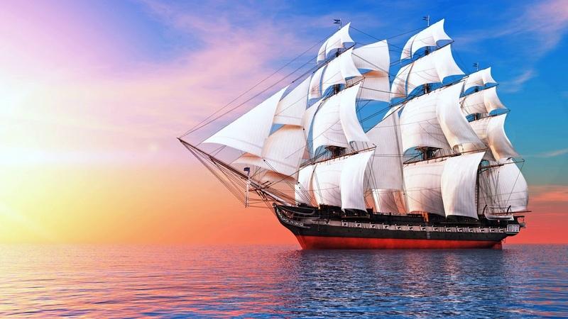 Картинка корабль. Корабли, море, паруса, корабль.