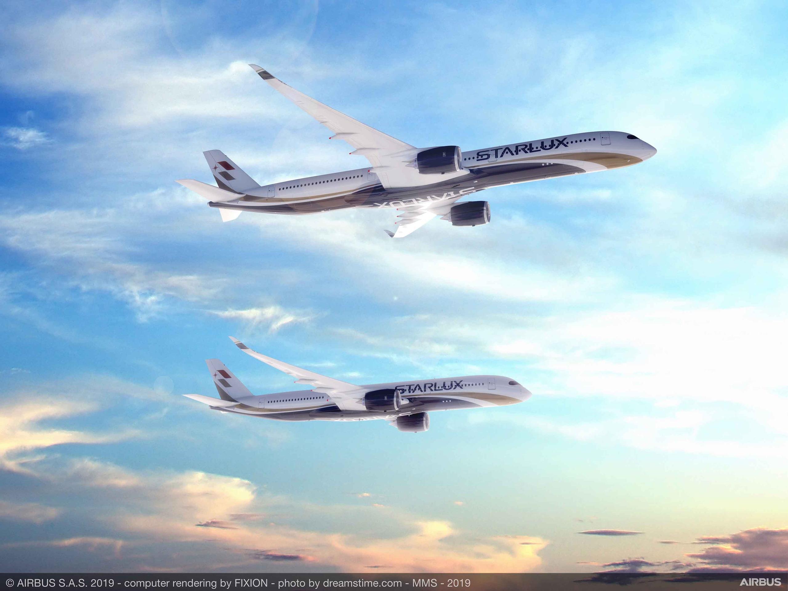 Тайваньская авиакомпания STARLUX Airlines подписала с #Airbus твердый контакт на 17 самолётов семейства #А350 XWB ( 12 A350-1000 и пять A350-900).